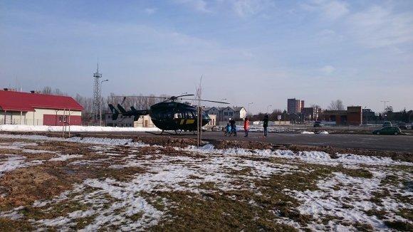 VSAT nuotr./VSAT sraigtasparnis iš Kauno į Vilnių gabena donoro organus
