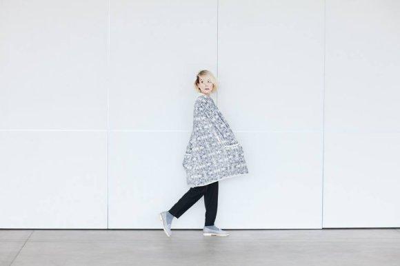 """Nuotrauka: Raimonda Vyšnia./Severija Janušauskaitė – aktorė, įkūnijanti """"Kristar Design"""" moterį."""