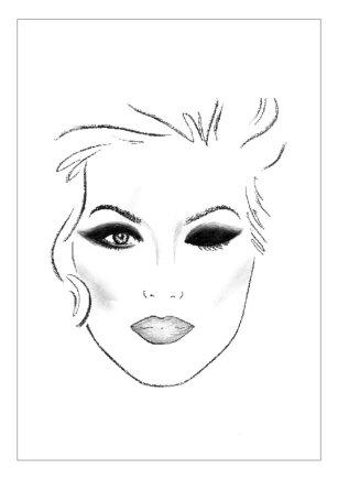 """""""Mary Kay"""" iliustracija/Dūminis makiažas"""
