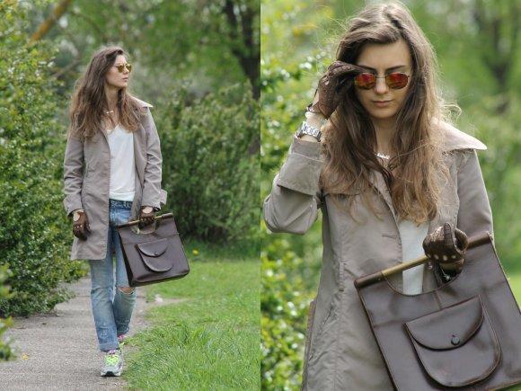 """Stiliaus tinklaraštininkės Modevi nuotr./Modevi pavasarinis įvaizdis: drabužių derinys su """"boyfriend"""" tipo džinsais"""