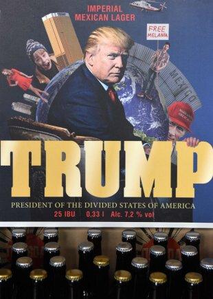 "AFP/""Scanpix"" nuotr./Pristatytas ukrainiečių pagamintas D.Trumpo alus"