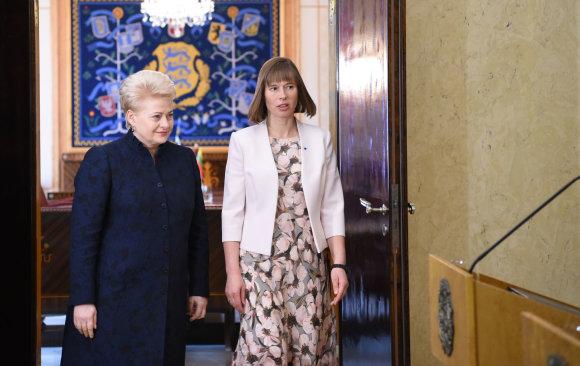 Prezidentūros/R.Dačkaus nuotr./Dalia Grybauskaitė susitiko su Estijos prezidente Kersti Kaljulaid