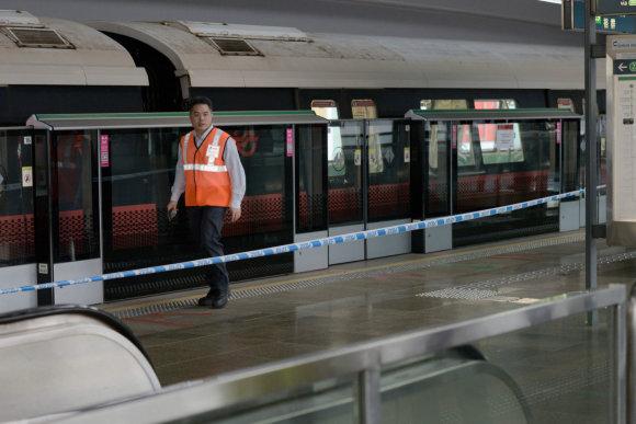"""AFP/""""Scanpix"""" nuotr./Singapūre susidūrė traukiniai"""