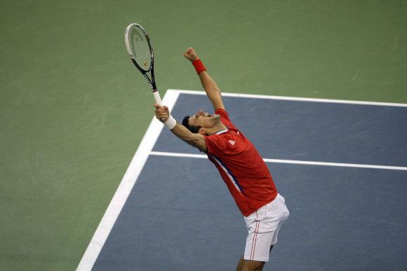 """""""Scanpix""""/AP nuotr./Novakas Djokovičius atstovavo Serbijai Daviso taurėje"""