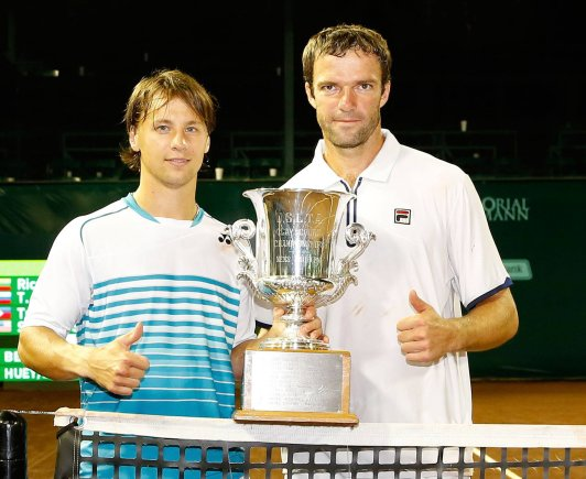 U.S. Men's Clay Court Championship nuotr./Ričardas Berankis ir Teimurazas Gabašvilis