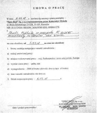 15min /Darbo sutartis dirbti Lenkijoje