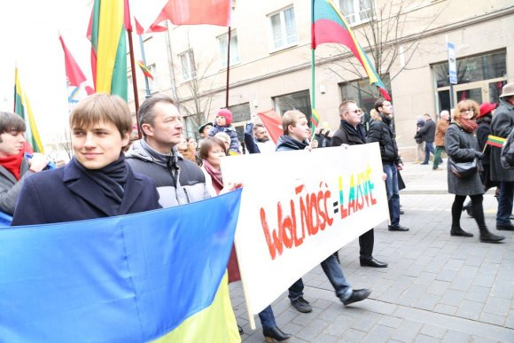 A.Radčenko/zw.lt nuotr./Lietuvos lenkai Nepriklausomybės eisenoje
