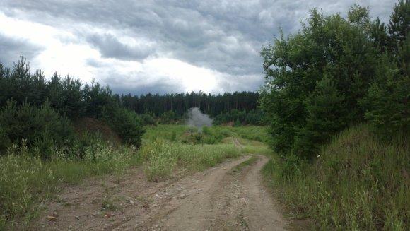 Aleksandro M. nuotr./Vilniuje, Liepkalnio g., rastas sprogmuo