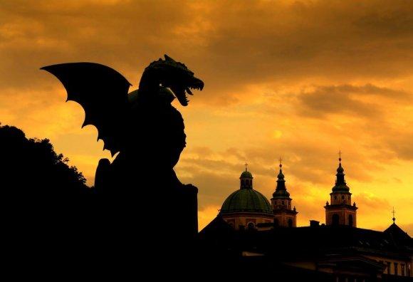 123rf.com nuotr./Liublianos simbolis – drakonas