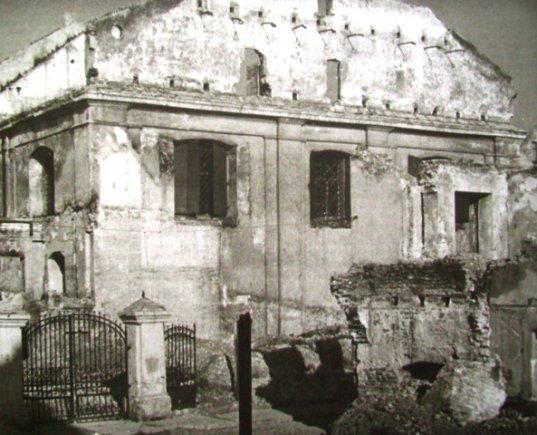 J.Bulhakas. Didžioji sinagoga ir biblioteka po Antrojo pasaulinio karo