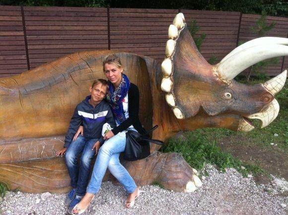 Sandra su sūnumi