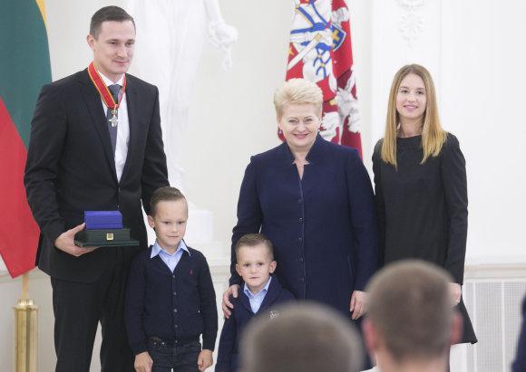 Luko Balandžio/15min.lt nuotr./Paulius Jankūnas ir Dalia Grybauskaitė