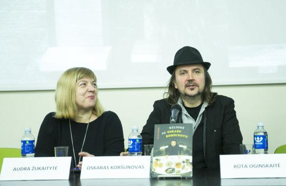 Luko Balandžio/Žmonės.lt nuotr./Oskaras Koršunovas ir Audra Žukaitytė