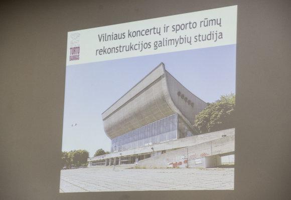 Luko Balandžio/15min.lt nuotr./Sporto ir koncertų rūmų atnaujinimo galimybių studija