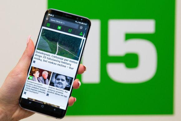 """Luko Balandžio / 15min nuotr./""""Samsung Galaxy S8"""""""
