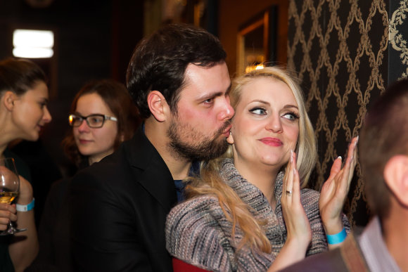 Viganto Ovadnevo/Žmonės.lt nuotr./Rūta Ščiogolevaitė su vyru Rolandu Damijonaičiu