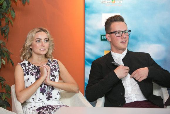 Gretos Skaraitienės/Žmonės.lt nuotr./Justė Zinkevičiūtė  ir Martynas Levickis