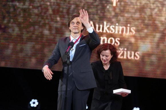 Teodoro Biliūno/15min.lt nuotr./Auksinį scenos kryžių pagrindinio aktoriaus kategorijoje pelnęs D.Svobonas