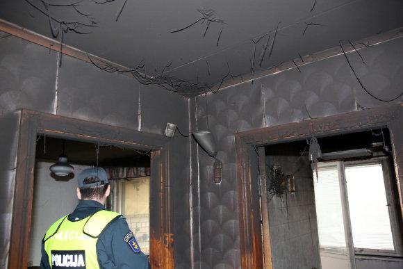 Teodoro Biliūno/Žmonės.lt nuotr./Kauno daugiabutyje kilo gaisras