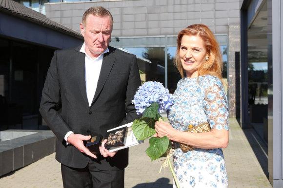 Teodoro Biliūno/Žmonės.lt nuotr./Tautvydas Barštys su žmona
