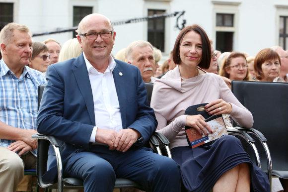 Teodoro Biliūno/Žmonės.lt nuotr./Visvaldas Matijošaitis ir Loreta Stonkienė