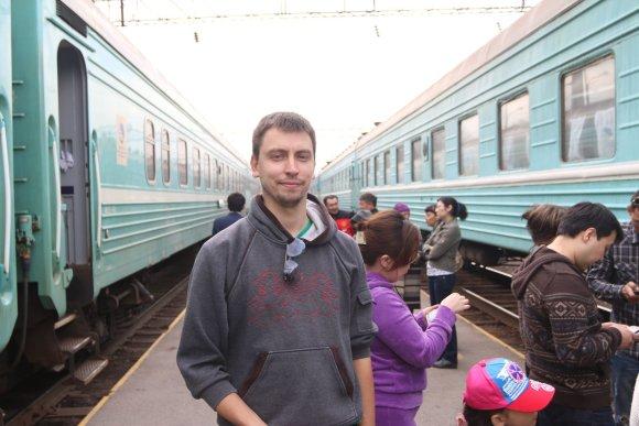 Asm.archyvo nuotr./Kažkokioje stotyje vidury Ukrainos