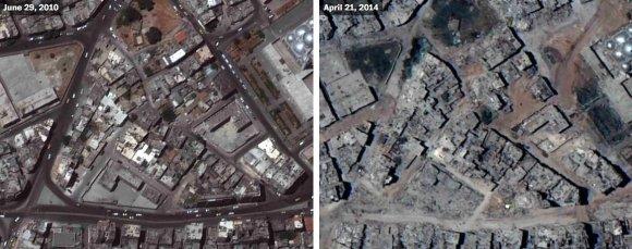 US Department of State, Humanitarian Information Unit, NextView License (DigitalGlobe) nuotr./Homso Al-Hamidiyah rajonas
