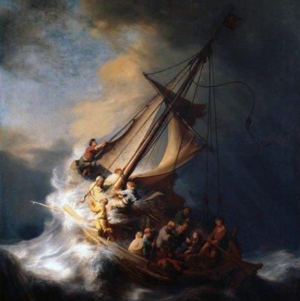 """Rembrandto """"Audra Galilėjos ežere"""""""