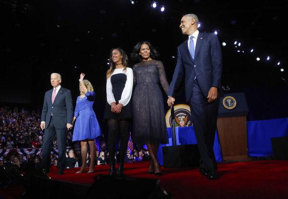 """""""Scanpix""""/AP nuotr./Baracko Obamos atsisveikinimo kalba"""