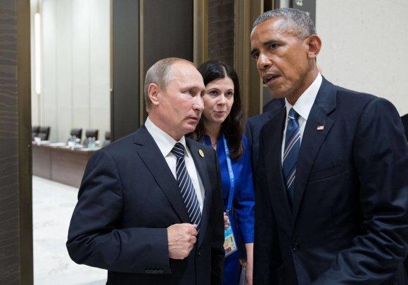 Baltųjų rūmų nuotr./Vladimiras Putinas ir Barackas Obama