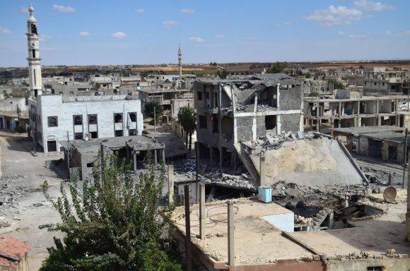 """""""Scanpix""""/AP nuotr./Rusijos antskrydžių Sirijoje padariniai"""