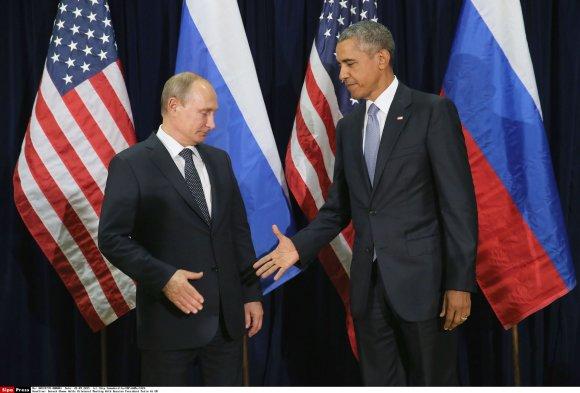 """""""Scanpix""""/""""Sipa USA"""" nuotr./Vladimiro Putino ir Baracko Obamos susitikimas"""