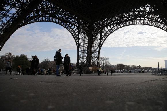 """""""Scanpix""""/AP nuotr./Uždarytas Eifelio bokštas"""