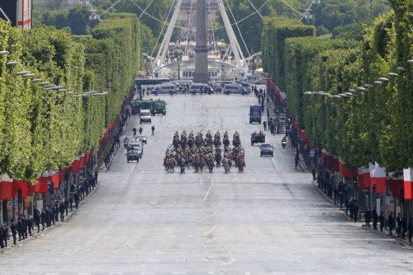"""Scanpix""/AP nuotr./Emmanuelio Macrono inauguracija"