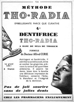 """""""Wikimedia Commons"""" iliustr./Dantų pastos su radžiu reklama"""