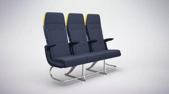 """""""Ryanair"""" nuotr./Naujos """"Ryanair"""" kėdės"""
