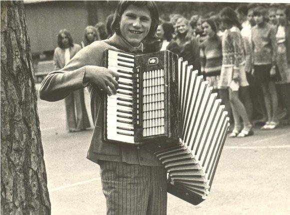 Asmeninio archyvo nuotr./Faustas Latėnas Zarasuose 1969 m.