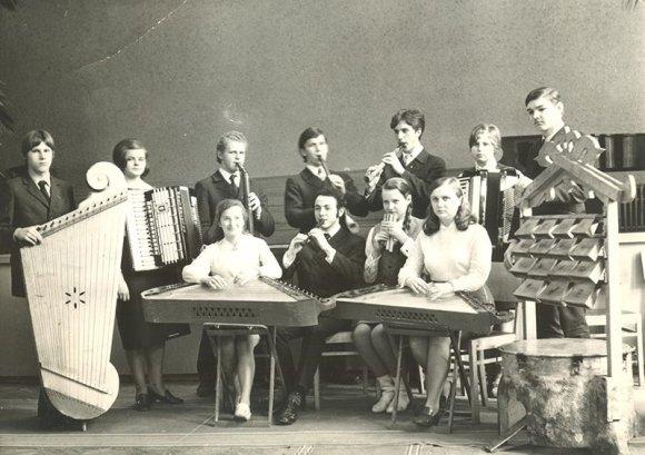 Asmeninio archyvo nuotr./Kaune, Juozo Gruodžio aukštesniojoje muzikos mokykloje 1971 m.
