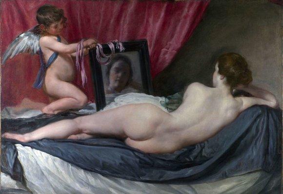 "Public Domain nuotr./Diego Velázquez ""Venera prieš veidrodį"""