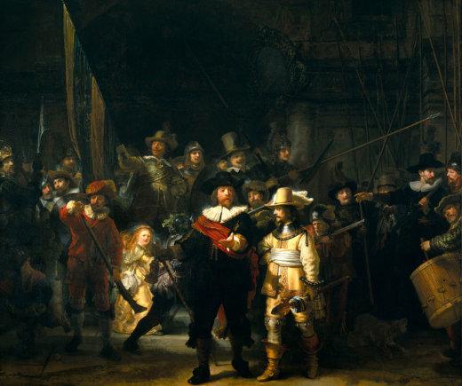 "Public Domain nuotr./Rembrandto ""Nakties sargyba"""