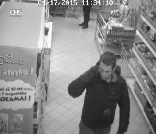 Policijos nuotr./Ieškomi parduotuvę Klaipėdoje apšvarinę ilgapirščiai