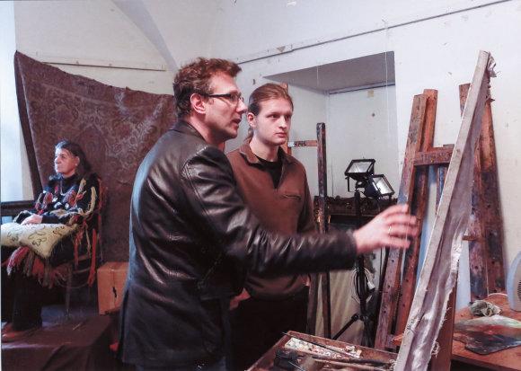 1. Molbertinės tapybos ir istorinės tapybos kopijavimo paskaita / VDA nuotr.