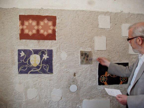 Sienų tapybos restauratorius prof. Juozas Algirdas Pilipavičius VDA Restauravimo laboratorijoje / VDA nuotr.