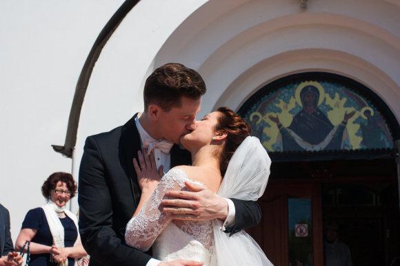 Algirdo Venskaus nuotr./Dmitrijaus Popovo ir Valerijos Goncharovos vestuvių akimirka