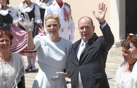 """""""Scanpix"""" nuotr./Karališkosios Monako šeimos krikštynų akimirka"""