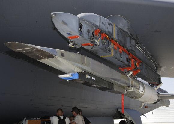 """""""Wikipedia"""" nuotr./Lėktuvo """"Boeing X-51"""" bandymas 2009 metų vasarą"""