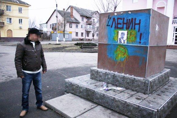 D.Pancerovo nuotr./Sčastja meras prie buvusio Lenino paminklo
