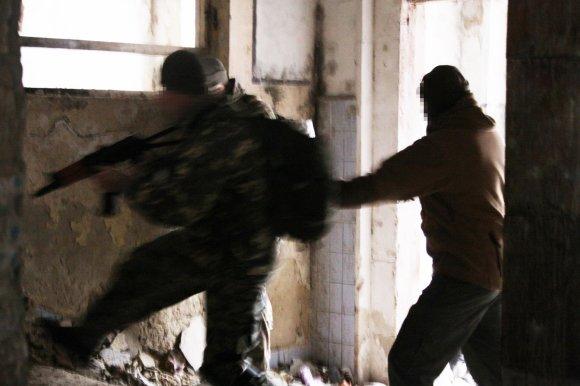 Dovydo Pancerovo nuotr./Lietuvis instruktorius Pribaltas veda karinius mokymus Ukrainos kariams