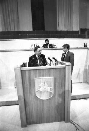 Pauliaus Lileikio nuotr./Vytautas Landsbergis, Zigmas Vaišvila