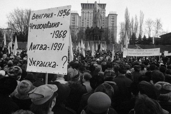 Oleksandr Klymenko/Iš mitingo Kijeve 1991m, sausio mėn.